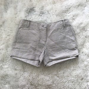 J. Crew Shorts - J. Crew Linen Metallic Polka Dot Cuff Shorts